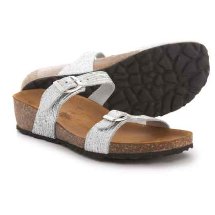 Marina Luna Comfort Made in Italy Two-Band Wedge Sandals (For Women) in White - Closeouts