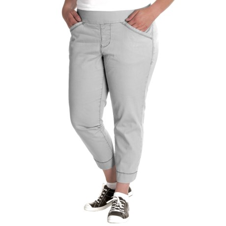 Marion Twill Crop Pants (For Plus Size Women)