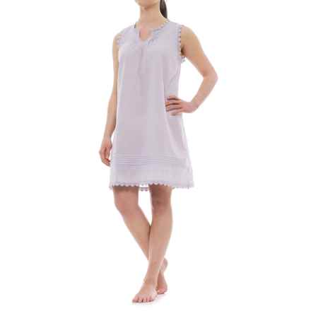 Marisa Christina Swiss Dot Pintuck Nightgown - Sleeveless (For Women) in Lavender - Closeouts