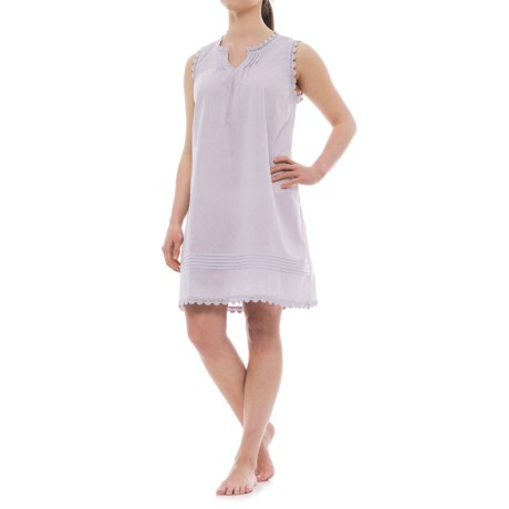 Marisa Christina Swiss Dot Pintuck Nightgown - Sleeveless (For Women) in Lavender