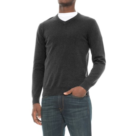 Mark Law Cotton Sweater - V-Neck, Long Sleeve (For Men)