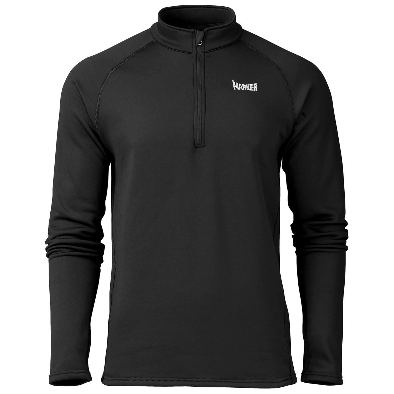 Marker Active Fleece Shirt Zip Neck Long Sleeve For