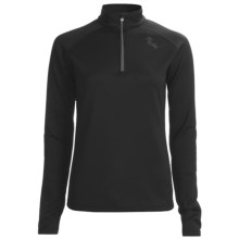 Marker Active Fleece Shirt - Zip Neck, Long Sleeve (For Women) in Black - Closeouts