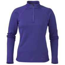 Marker Active Fleece Shirt - Zip Neck, Long Sleeve (For Women) in Violet - Closeouts