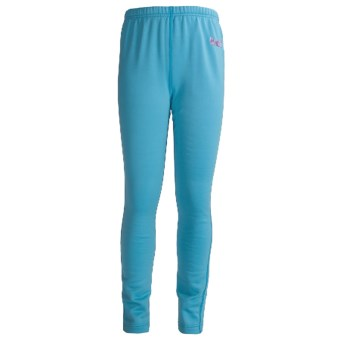 Marker Active Fleece Tights - Base Layer, Heavyweight (For Girls) in Sky