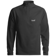 Marker Active Fleece Top - Zip Neck, Long Sleeve (For Men) in Black - Closeouts