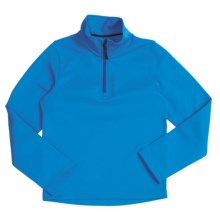 Marker Active Zip Turtleneck - Stretch Fleece, Long Sleeve (For Boys) in Blue - Closeouts