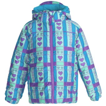 Marker Ariel Jacket - Insulated (Little Girls) in Lilac/Blue Print