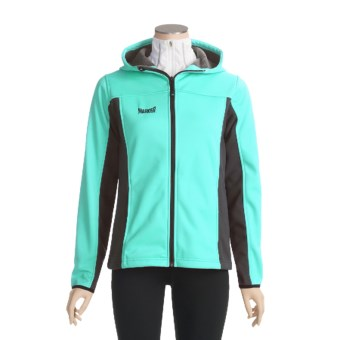 Marker Athena Fleece Jacket - Windstopper®, Hooded (For Women) in Glacier