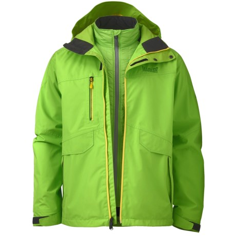 Marker Biosphere Gore-Tex® Jacket - Waterproof, 3-in-1 (For Men) in Flash Green