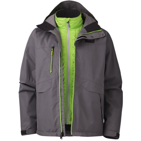 Marker Biosphere Gore-Tex® Jacket - Waterproof, 3-in-1 (For Men) in Graphite