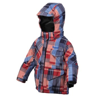 Marker Birdseye Jacket - Insulated (For Little Boys) in Red/Navy