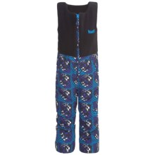 Marker Castle Fleece Bib Overalls - Waterproof, Insulated (For Kids) in Blue Print - Closeouts