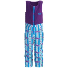 Marker Castle Fleece Bib Overalls - Waterproof, Insulated (For Kids) in Lilac/Blue Print - Closeouts