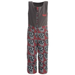 Marker Castle Fleece Bib Overalls - Waterproof, Insulated (For Kids) in Red Print