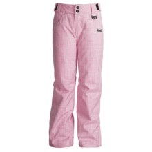 Marker Cupid Snow Pants - Insulated (For Girls) in Hot Pink/White - Closeouts
