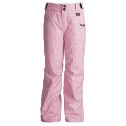 Marker Cupid Snow Pants - Insulated (For Girls) in Hot Pink/White