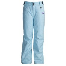 Marker Cupid Snow Pants - Insulated (For Girls) in Sky/White - Closeouts