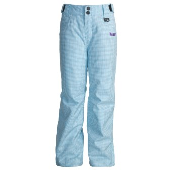 Marker Cupid Snow Pants - Insulated (For Girls) in Sky/White