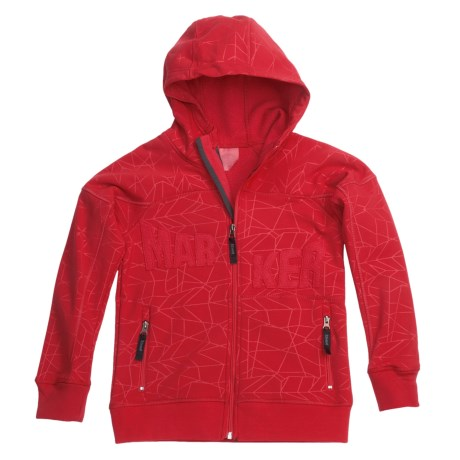 Marker Devo Tech Zip Hoodie - Fleece Lining (For Boys) in Red