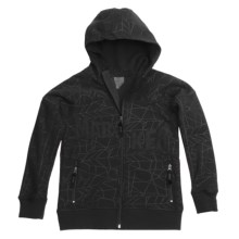 Marker Devo Tech Zip Hoodie Sweatshirt - Fleece Lining (For Boys) in Black - Closeouts