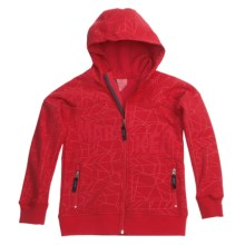 Marker Devo Tech Zip Hoodie Sweatshirt - Fleece Lining (For Boys) in Red - Closeouts