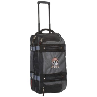 "Marker Double Decker Wheeled Duffel Bag - 21"" in Charcoal/Black"