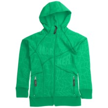 Marker Fantasy Tech Zip Hoodie Sweatshirt - Fleece Lining (For Girls) in Clover Green - Closeouts