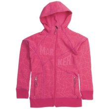 Marker Fantasy Tech Zip Hoodie Sweatshirt - Fleece Lining (For Girls) in Sorbet - Closeouts