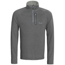 Marker Grid Fleece Pullover - Zip Neck (For Men) in Grey - Closeouts