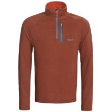 Marker Grid Fleece Pullover - Zip Neck (For Men) in Orange - Closeouts