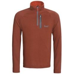 Marker Grid Fleece Pullover - Zip Neck (For Men) in Grey