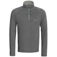 Marker Grid Fleece Shirt - Zip Neck (For Men) in Grey - Closeouts