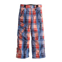 Marker Grinder Snow Pants - Insulated (For Boys) in Red/Navy - Closeouts