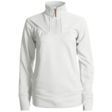 Marker Icon Zip Turtleneck - Stretch Fleece, Long Sleeve (For Women) in Snow White - Closeouts