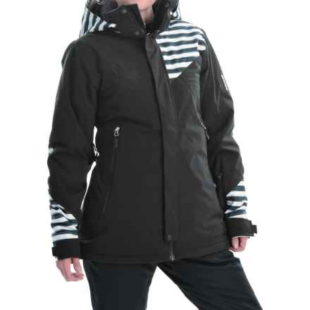 Marker Inverness Ski Jacket - Waterproof, Insulated (For Women) in Black/Black Chutes - Closeouts