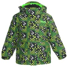 Marker Joker Jacket - Insulated (For Little Boys) in Green Print - Closeouts
