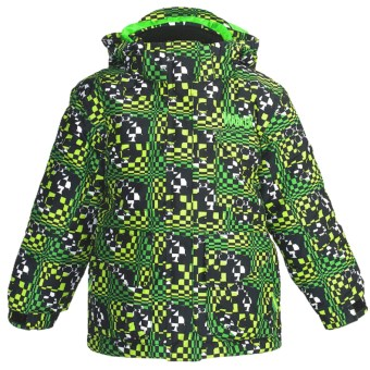 Marker Joker Jacket - Insulated (For Little Boys) in Green Print