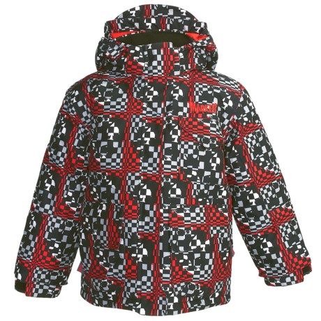 Marker Joker Jacket - Insulated (For Little Boys) in Red Print
