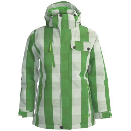 Marker Jr. B. Deuce Ski Jacket (For Boys) in Green Plaid