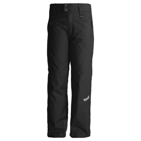 Marker Jr. B. Pop Side-Zip Snow Pants - Insulated (For Boys) in Black