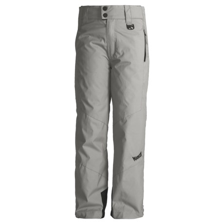 Marker Jr. B. Pop Side-Zip Snow Pants - Insulated (For Boys) in Grey