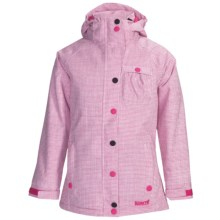 Marker Jr. G. Duchess Jacket - Insulated (For Girls) in Hot Pink/White - Closeouts