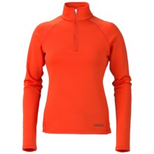 Marker Loveland Base Layer Top - Zip Neck, Midweight (For Women) in Mandarin - Closeouts