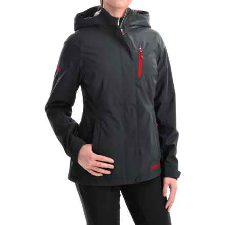 Marker Moment Soft Shell Ski Jacket - Waterproof (For Women) in Black - Closeouts