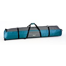 Marker Multi-Use Ski/Snowboard Rolling Hauler Bag in Teal/Charcoal - Closeouts