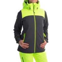 Marker Pandemonium Ski Jacket - Waterproof, Insulated (For Women) in Dark Shadow/Neon Yellow - Closeouts