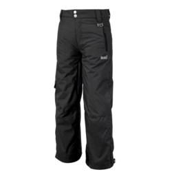 Marker Pop Cargo Ski Pants - Insulated (For Boys) in Black