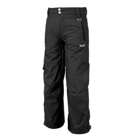 Marker Pop Cargo Ski Pants - Insulated (For Boys) in Black