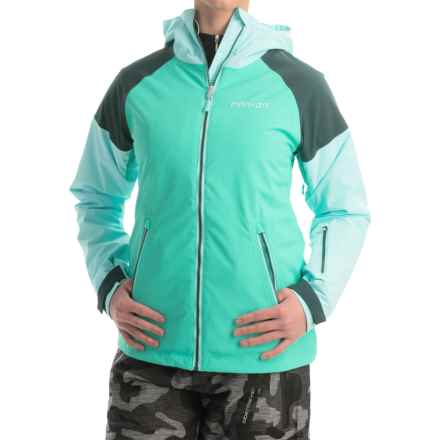 Marker Push Ski Jacket - Waterproof, Insulated (For Women) in Aqua Green - Closeouts